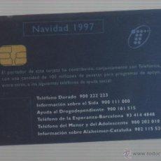 Tarjetas telefónicas de colección: TARJETA TELEFONICA -NAVIDAD 1997-TARJETA PERSONAL. Lote 42909353
