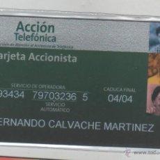 Tarjetas telefónicas de colección: TARJETA TELEFONICA -TARJETA ACCIONISTA. Lote 177391234