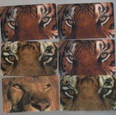 Cartes Téléphoniques de collection: LOTE DE 6 TARJETAS PREPAGO -TIGRE. Lote 42949557