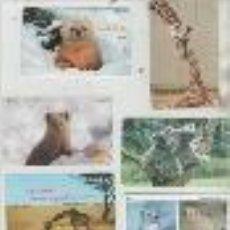 Cartes Téléphoniques de collection: LOTE DE 7 TARJETAS DE ANIMALES. Lote 42949656