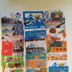 Tarjetas telefónicas de colección: SUPER LOTE DE 50 TARJETAS TELEFONICAS TEMA FUTBOL !!!. Lote 43370770
