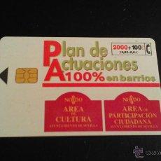 Tarjetas telefónicas de colección: TARJETA TELEFONICA PLAN DE ACTUACIONES EN BARRIOS (SEVILLA). Lote 45283969