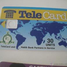 Tarjetas telefónicas de colección: TARJETA TELEFÓNICA. TELÉFONO. HABIB BANK PARTNERS IN SERVICE. TELE CARD. Lote 45408317