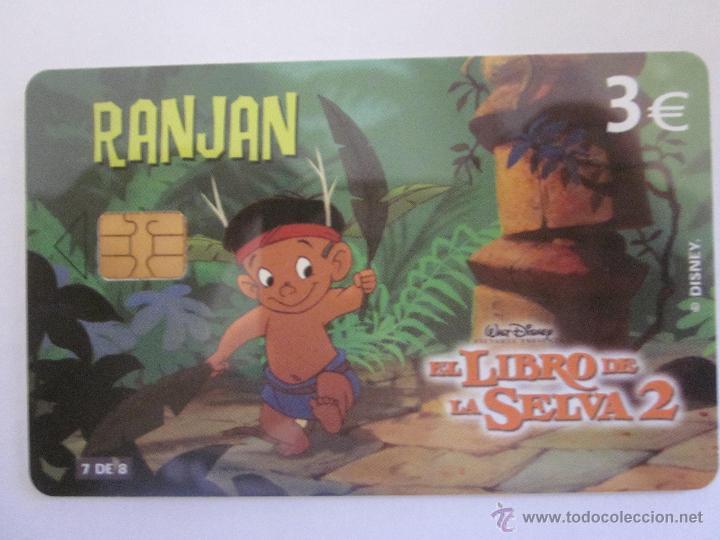 TARJETA TELEFÓNICA ESPAÑA SERIE EL LIBRO DE LA SELVA. RANJAN. TIRADA 4.000. AÑO 2003. 7 DE 8 (Coleccionismo - Tarjetas Telefónicas)