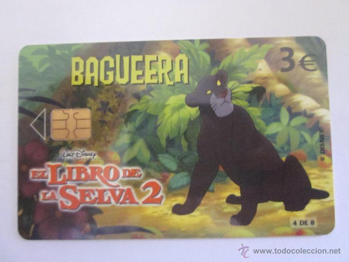 TARJETA TELEFÓNICA ESPAÑA SERIE EL LIBRO DE LA SELVA. BAGUEERA. TIRADA 4.000. AÑO 2003. 4 DE 8 (Coleccionismo - Tarjetas Telefónicas)