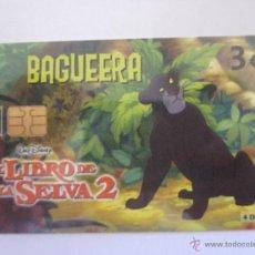Tarjetas telefónicas de colección: TARJETA TELEFÓNICA ESPAÑA SERIE EL LIBRO DE LA SELVA. BAGUEERA. TIRADA 4.000. AÑO 2003. 4 DE 8. Lote 48227536
