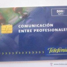 Tarjetas telefónicas de colección: TARJETA TELEFÓNICA ESPAÑA COMUNICACION ENTRE PROFESIONALES. TIRADA 10.000. AÑO 1999. Lote 48237066