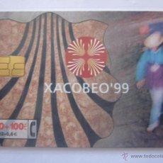 Tarjetas telefónicas de colección: TARJETA TELEFÓNICA ESPAÑA XACOBEO 99. TIRADA 252.000. AÑO 1999. Lote 48238606