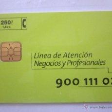 Tarjetas telefónicas de colección: TARJETA TELEFÓNICA ESPAÑA NEGOCIOS Y PROFESIONALES. TIRADA 7.500. AÑO 1999. Lote 48238830