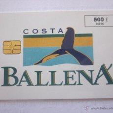 Tarjetas telefónicas de colección: TARJETA TELEFÓNICA ESPAÑA COSTA BALLENA. TIRADA 6.000. AÑO 1999. Lote 48239095