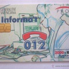 Tarjetas telefónicas de colección: TARJETA TELEFÓNICA ESPAÑA 012. TIRADA 185.000. AÑO 1999. Lote 48239825