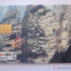 Tarjetas telefónicas de colección: TARJETA TELEFÓNICA ESPAÑA MONTSERRAT. TIRADA 105.000. AÑO 1999. Lote 48240372