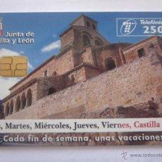 Tarjetas telefónicas de colección: TARJETA TELEFÓNICA ESPAÑA TURISMO CASTILLA Y LEÓN. TIRADA 6.000. AÑO 1998. Lote 48244898