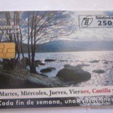 Tarjetas telefónicas de colección: TARJETA TELEFÓNICA ESPAÑA TURISMO CASTILLA Y LEÓN. TIRADA 6.000. AÑO 1998. Lote 48245067