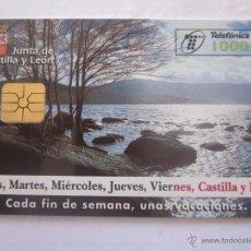Tarjetas telefónicas de colección: TARJETA TELEFÓNICA ESPAÑA TURISMO CASTILLA Y LEÓN. TIRADA 80.000. AÑO 1998. Lote 48245542