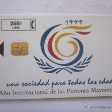 Tarjetas telefónicas de colección: TARJETA TELEFÓNICA ESPAÑA AÑO PERSONAS MAYORES 1999. TIRADA 4.000. Lote 48252512