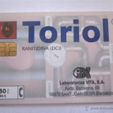 Tarjetas telefónicas de colección: TARJETA TELEFÓNICA ESPAÑA TORIOL. TIRADA 20.000. AÑO 1999. Lote 48252805