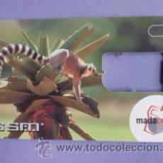 Tarjetas telefónicas de colección: TARJETA TELEFÓNICA DE MADAGASCAR.MADACOM GSM.SIN CHIP.FAUNA.RARA. Lote 48425581