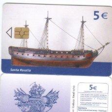 Tarjetas telefónicas de colección: ESPAÑA TT TARJETA TELEFONICA BARCOS SANTA ROSALIA. Lote 183309521