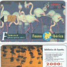 Tarjetas telefónicas de colección: TARJETA TELEFONICA FAUNA IBERICA FLAMENCO TT. Lote 183308350