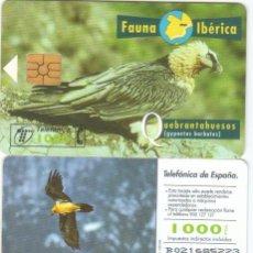 Tarjetas telefónicas de colección: TARJETA TELEFONICA FAUNA IBERICA QUEBRANTAHUESOS TT. Lote 183308678
