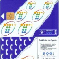 Tarjetas telefónicas de colección: TARJETA TELEFONICA CHIP 500 PESETAS TT. Lote 53802039