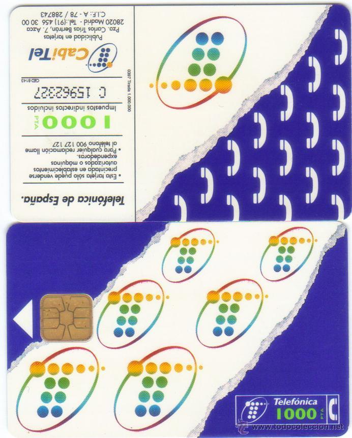 TARJETA TELEFONICA 1000 PESETAS TT (Coleccionismo - Tarjetas Telefónicas)