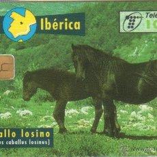 Tarjetas telefónicas de colección: TARJETA TELEFONICA FAUNA CABALLO ESPAÑOL 0197 TT 1997. Lote 183308833