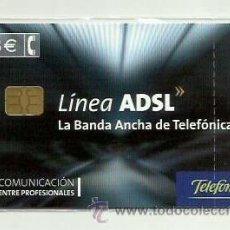 Tarjetas telefónicas de colección: TARJETA TELEFONICA ESPAÑA - LINEA ADSL (EN PRECINTO ORIGINAL) REF: 02-0059C (VALOR FACIAL). Lote 50888848