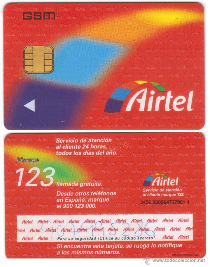 ESPAÑA TT TARJETA TELEFONICA AIRTEL MUY RARA DE CHIP GSM GYD LOGO (Coleccionismo - Tarjetas Telefónicas)