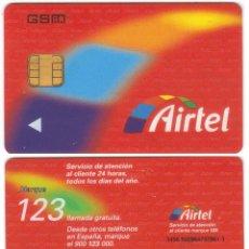 Tarjetas telefónicas de colección: ESPAÑA TT TARJETA TELEFONICA AIRTEL MUY RARA DE CHIP GSM GYD LOGO. Lote 51229615