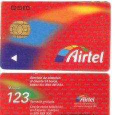 Tarjetas telefónicas de colección: ESPAÑA TT TARJETA TELEFONICA AIRTEL MUY RARA VER DETALLE CHIP GSM OVAL. Lote 51229940