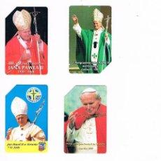 Tarjetas telefónicas de colección: LOTE 6 TARJETAS TELEFÓNICAS PAPA JUAN PABLO II WOJTYLA VATICANO RELIGIÓN TARJETA TELEFÓNICA. Lote 51582202