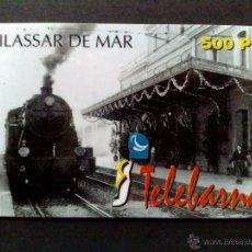 Tarjetas telefónicas de colección: TARJETA TELEFONICA,500 PTS.-TELEBARNA-VILASSAR DE MAR-SIN UTILIZAR. Lote 51787230