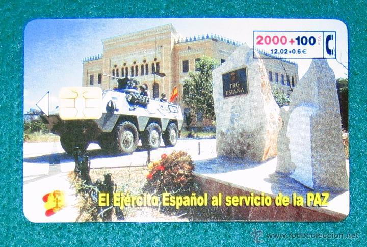 TARJETA TELEFÓNICA EJÉRCITO ESPAÑOL. 2000 PTA (Coleccionismo - Tarjetas Telefónicas)