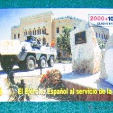 Tarjetas telefónicas de colección: TARJETA TELEFÓNICA EJÉRCITO ESPAÑOL. 2000 PTA. Lote 52596988