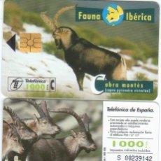 Tarjetas telefónicas de colección: ESPAÑA TT TARJETA TELEFONICA FAUNA IBERICA CABRA MONTES. Lote 183308900