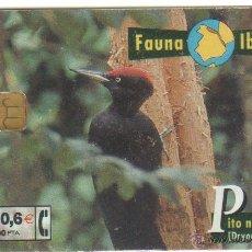 Tarjetas telefónicas de colección: ESPAÑA TT TARJETA TELEFONICA FAUNA IBERICA PITO NEGRO 2001. Lote 269092688