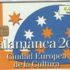 Tarjetas telefónicas de colección: ESPAÑA TT TARJETA TELEFONICA SALAMANCA 2002 CIUDAD EUROPEA DE LA CULTURA. Lote 183309428