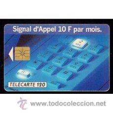 Cartes Téléphoniques de collection: TELECARTE 120 TT TARJETA TELEFONICA SIGNAL D`APPEL 10F 1993. Lote 53819207