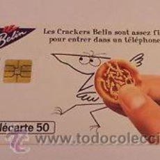 Tarjetas telefónicas de colección - TARJETA TELEFONICA TELECARTE 50 TT GALLETAS BELIN CRACKERS - 54278885