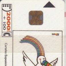 Tarjetas telefónicas de colección: CP-001 TARJETA DE ESPAÑA DE LA EXPO DE SEVILLA 1992 DE H. EDELMAN - CURRO (NUEVA) ¡¡A VALOR FACIAL!!. Lote 191670708