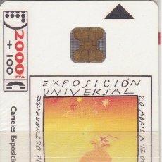 Tarjetas telefónicas de colección: CP-006 (CON LA M) TARJETA DE ESPAÑA DE LA EXPO SEVILLA 92 A. GONZALEZ (NUEVA-MINT) ¡¡A PRECIO FACIAL. Lote 54327399