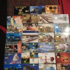 Tarjetas telefónicas de colección: LOTE 52 TARJETAS TELEFONICAS ESPAÑOLAS DIFERENTES. Lote 54517622