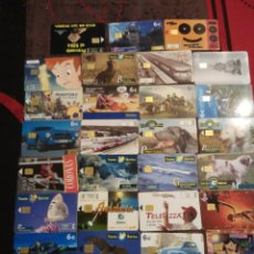 Tarjetas telefónicas de colección: LOTE DE 50 TARJETAS TELEFONICAS TT VARIOS AÑOS CON TARJETERO DE REGALO. Lote 54753397