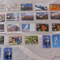 Tarjetas telefónicas de colección: M69 LOTE DE 19 TARJETAS TELEFONICAS LA MAYORIA DE ESPAÑA + 3 TARJETAS SIN PIN PUBLICITARIAS. Lote 54996157