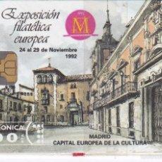 Tarjetas telefónicas de colección: P-006 TARJETA DE ESPAÑA DE FILATELIA 92 DE TIRADA 6000 NUEVA. Lote 56157358