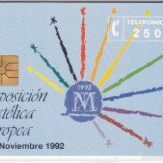 Tarjetas telefónicas de colección: P-007 TARJETA DE ESPAÑA FILATELIA´92 DE TIRADA 2000 NUEVA. Lote 56157366