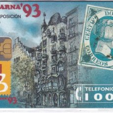 Tarjetas telefónicas de colección: P-011 TARJETA FILABARNA´93 DE TIRADA 2000 (SELLO-STAMP). Lote 56157404