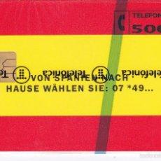Tarjetas telefónicas de colección: P-015 TARJETA DE ESPAÑA DE FREUDIN DE TIRADA 3000 NUEVA (BANDERA DE ESPAÑA). Lote 56157434